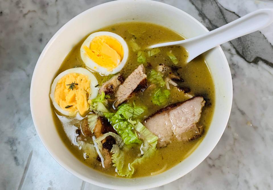 Receta de sopa ramen con panceta | Locas de la vida