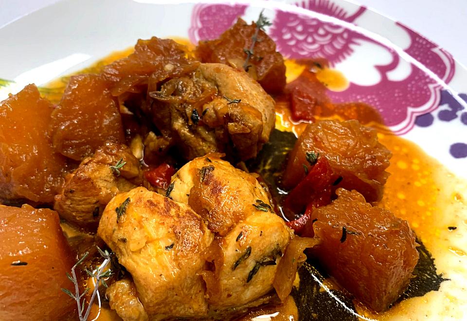 Receta de pollo con calabaza | Locas de la vida
