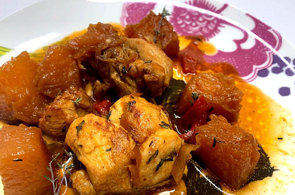 Receta de Pollo con Calabaza