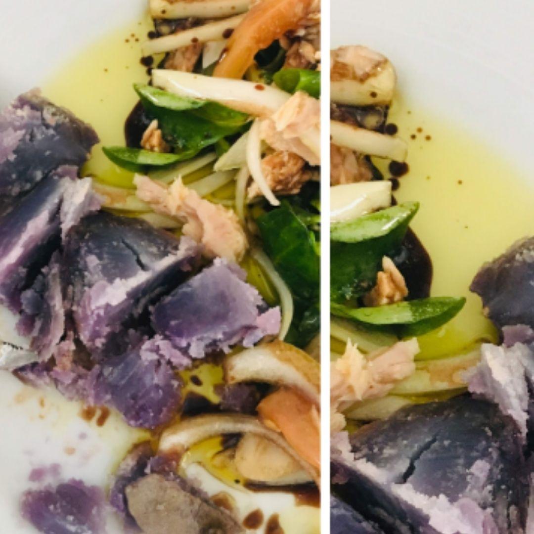 Papas púrpuras arrugadas con ensalada   Locas de la vida, Blog de recetas de cocina para principiantes, recetas fáciles y rápidas de preparar