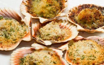 Vieiras gratinadas una receta riquísima y rápida para sorprender a tus invitados