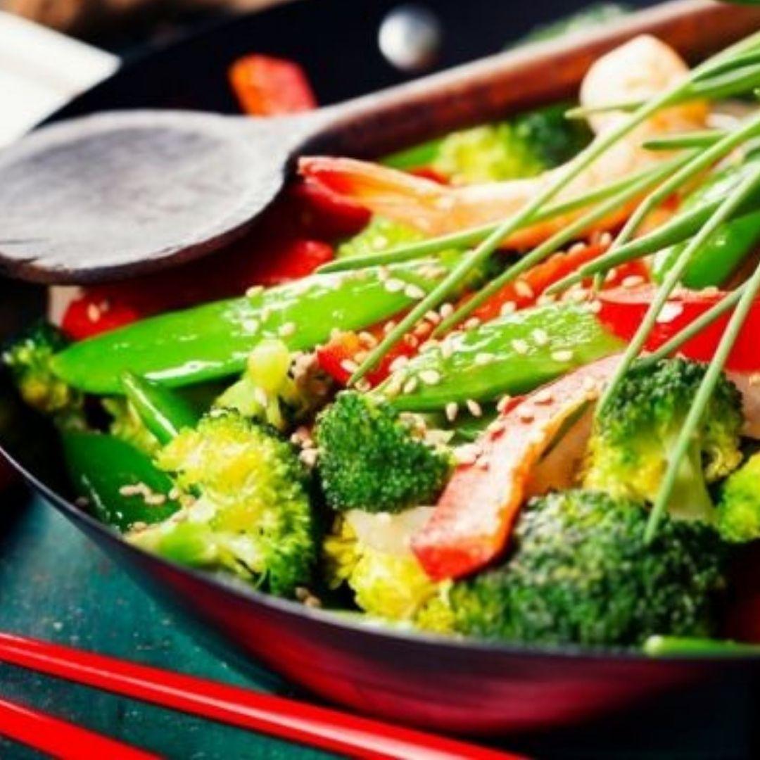 Wok de verduras | Locas de la vida | Recetas de cocina para principiantes fácil y rápidas de preparar