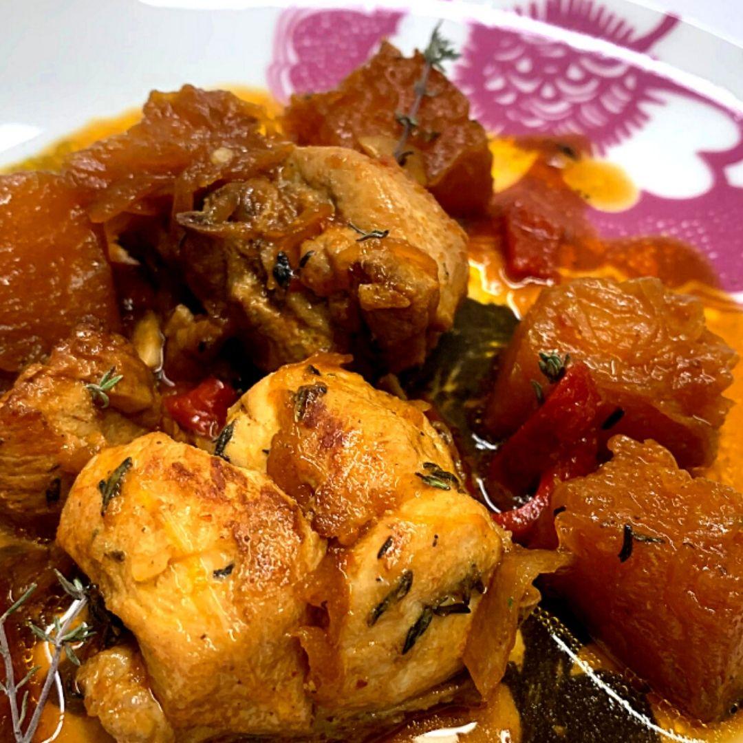 Receta de Pollo con Calabaza | Locas de la vida | Recetas de cocina para principiantes fácil y rápidas de preparar