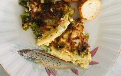 Tortilla de judías verdes y coliflor
