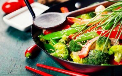 Wok de verduras con un toque oriental