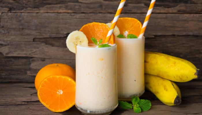 Batido de plátano y naranja